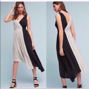 Anthropologie Maeve two time asymmetrical dress